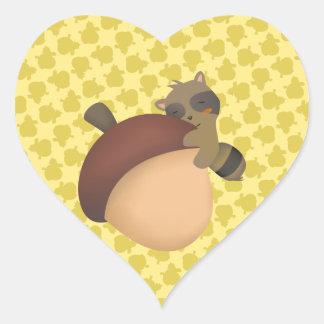 Little Racoon Yellow Sticker
