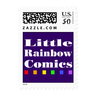 Little Rainbow Comics: Logo Postage