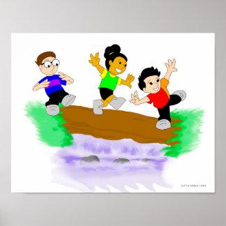 Little Rainbow Comics: Walking Over Water Poster