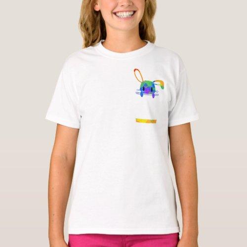 Little Rainbow Pocket Bunny T_Shirt