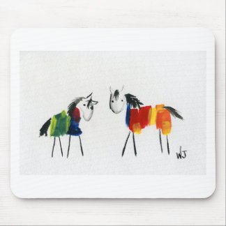 Little Rainbow Ponies Mouse Pad