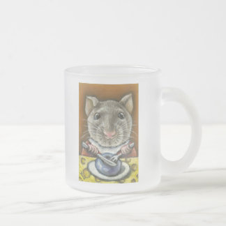 Little rat frosted glass coffee mug
