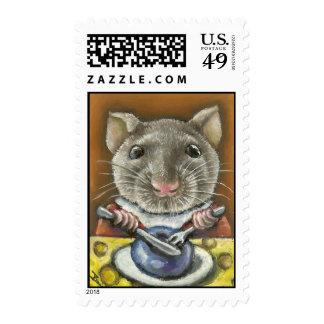 Little rat postage stamps