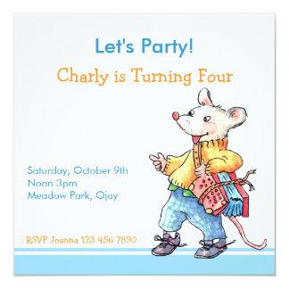 Little Rat with Accordeon Invitation
