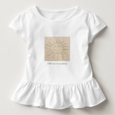 Beach Themed Little ray of sunshine smiley faced sun drawing toddler t-shirt