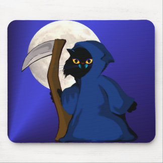 Little Reaper Kitty and Moon Mousepad
