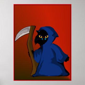 Little Reaper Kitty   Poster