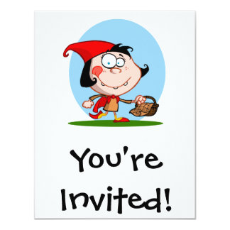 little red 4.25x5.5 paper invitation card