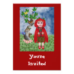"""Little Red, 5"""" X 7"""" Invitation Card"""