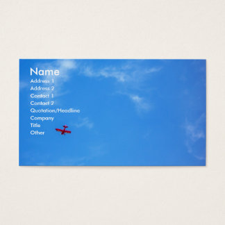 Little Red Airplane Business Card