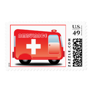 Little Red Ambulance Postage
