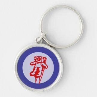 Little red astronaut roundel keychain