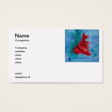 Professional Business Little Red Betta Fish Business Cards