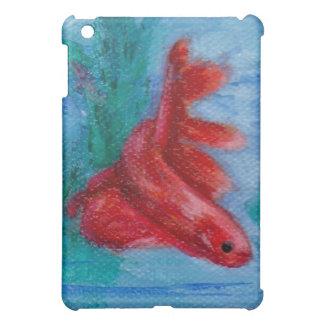 Little Red Betta Fish iPad Mini Cover
