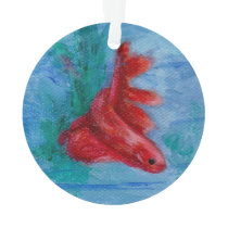 Little Red Betta Fish Ornament