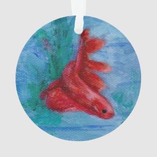 Little Red Betta Fish Ornament