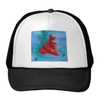 Little Red Betta Fish Trucker Hat