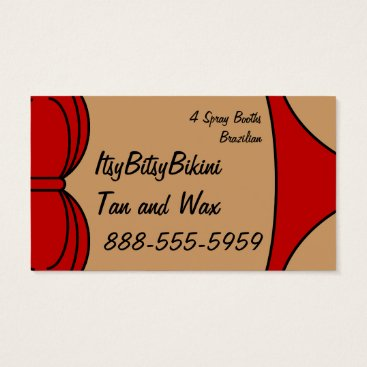 Beach Themed Little Red Bikini Business Card
