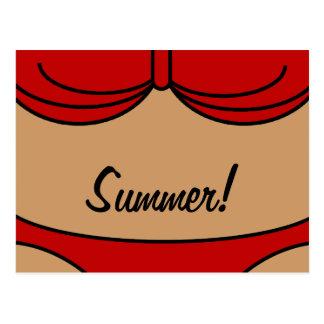Little Red Bikini Postcard