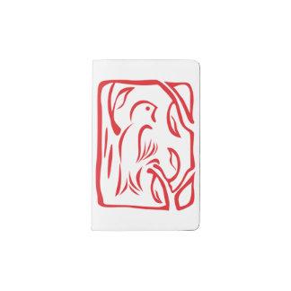 Little Red Bird Pocket Moleskine Notebook