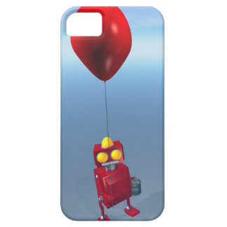 Little Red Birthday Robot 1 iPhone SE/5/5s Case