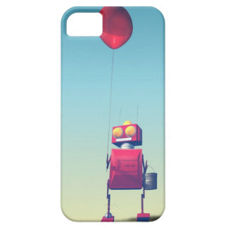Little Red Birthday Robot 3 iPhone SE/5/5s Case
