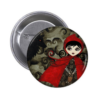 Little Red Capuccine Button