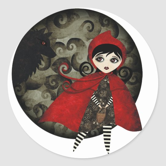 Little Red Capuccine Classic Round Sticker