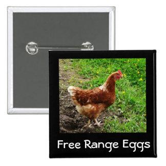 Little Red Chicken  - Free Range Egg Layer Pin