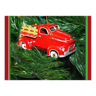 Little Red Christmas Pick-up Truck (1) 6.5x8.75 Paper Invitation Card