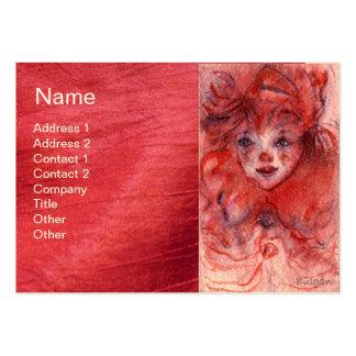 LITTLE RED CLOWN BUSINESS CARD TEMPLATES