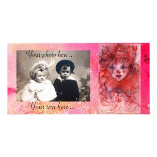 LITTLE RED CLOWN PHOTO CARD