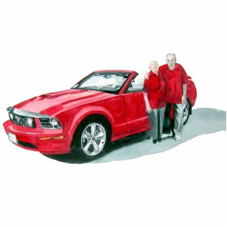 Little Red Convertible 2 Sculpture Standing Photo Sculpture
