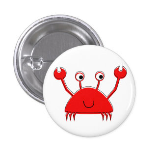 Little Red Crab Button