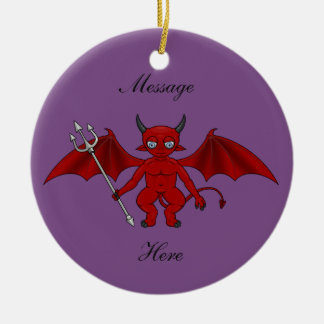 Little Red Devil Thunder_Cove Ceramic Ornament