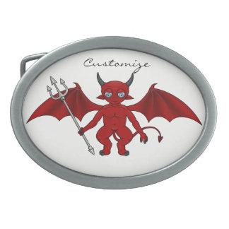 Little Red Devil Thunder_Cove Oval Belt Buckle