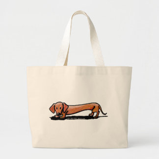 Little Red Doxie Jumbo Tote Bag
