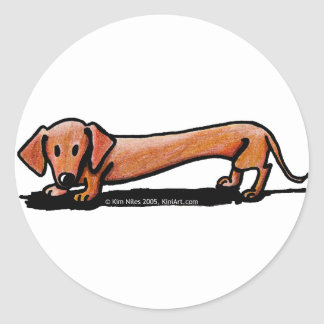 Little Red Doxie Stickers