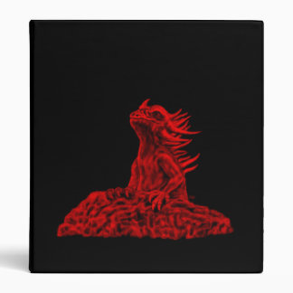 Little red Dragon Art KSZP 3 Ring Binder