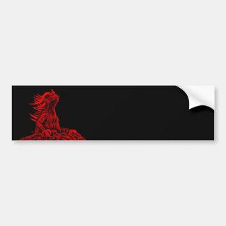 Little red Dragon Bumper Sticker