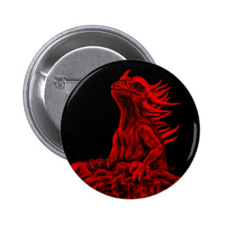 Little red Dragon Pinback Button