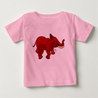 Little Red Elephant for Baby Baby T-Shirt