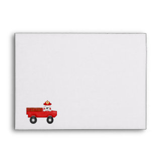 Little Red Fire Truck, Dalmatian Birthday Envelope