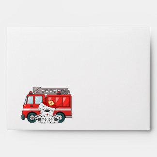 Little Red Fire Truck, Dalmatian Birthday Envelope