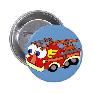Little Red Firetruck Pinback Buttons