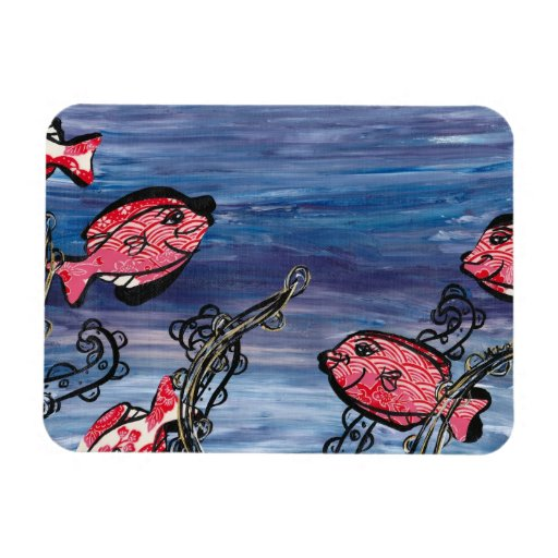 Little Red Fishies magnet