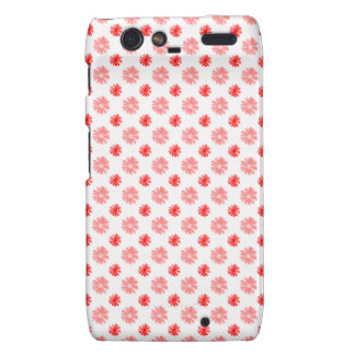 Little Red Flowers on White Droid RAZR Covers