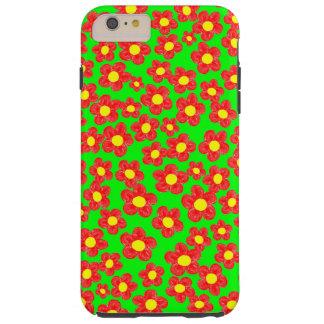 Little Red Flowers Tough iPhone 6 Plus Case