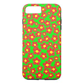 Little Red Flowers Tough iPhone 7 Plus Case