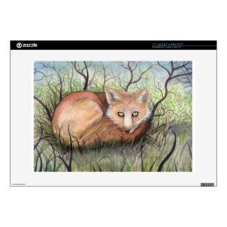 Little Red Fox Wildlife Art Laptop Skin